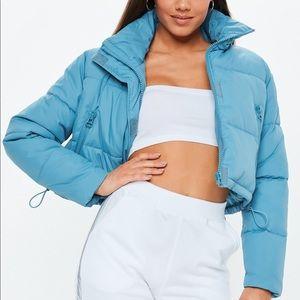 Crop Blue Puffer Coat XS/S